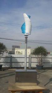 3つのカラーの小さい100W 12V/24Vの縦の軸線の風発電機