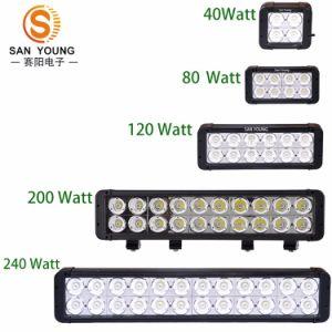 Regain tous terrains DEL Lightbar de la rangée 4X4 du CREE 10W de barre d'éclairage LED double