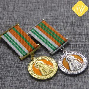 El deporte de Oro de la placa de alta calidad de la ejecución de las Medallas de la Maratón personalizado