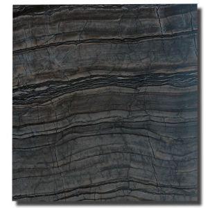 黒いSerpeggianteの大理石の黒い木製の静脈の大理石の平板のタイル