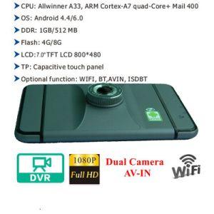 Venta caliente 7.0 Android HD 1080p de la Cámara de coche con GPS WiFi; G-Sensor; WDR; la función de visión nocturna DVR-7029