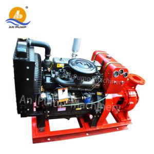 O motor diesel da bomba de água centrífuga de Estágio Único