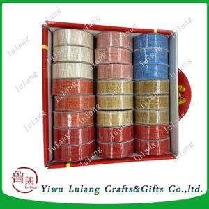 Poli nastro del regalo riccio multicolore, spostante nastro sulla bobina