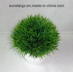 PE искусственных травяных культур растений W/белый котел для дома (50150)