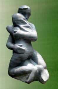 La figura de mármol blanco Jardín de Esculturas y estatuas Hand-Carving la decoración del hogar