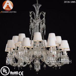 24 Luz lámpara de araña de cristal de Baccarat para proyecto hotelero la decoración de interiores