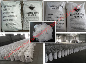 Vlokken 99% van de Bijtende Soda van de Rang van de industrie voor het Maken van het Document