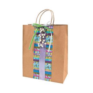Sac de papier d'épicerie personnalisé pour cadeau (YH-PGB072)