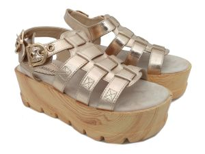 Plate-forme plus Size Womens filtres en coin Strappy chaussures sandales gladiateurs cheville