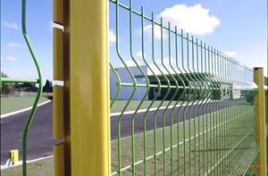 Eco friendly 3D recubierto de PVC cerco de malla de alambre soldado