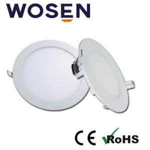 Carcasa de aluminio de diseño caliente 9W la luz del panel LED Empotrables de ronda