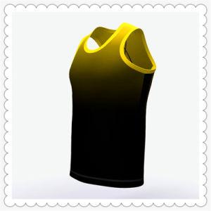При работающем двигателе Sublimated Singlet 100% полиэстер Singlets для спортивных мужчин верхней части топливного бака