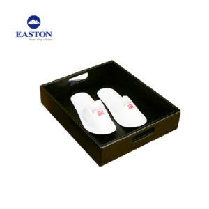 مستطيلة جلد مرتّبة حذاء تخزين حذاء سلة لأنّ فندق