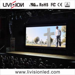 P3.91 LED no interior do painel de vídeo para a Igreja na parede de vídeo