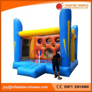 Opblaasbaar het Springen Moonwalk Bouncy Kasteel met de Hoepel van het Basketbal (t1-227A)