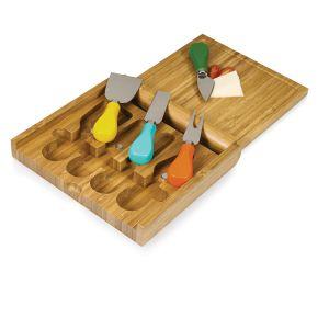 Cortar de bambú de la Junta de queso con la herramienta Conjunto conjunto Cultelary