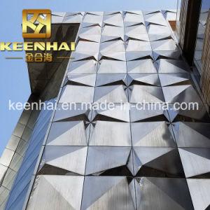 Personalizar el exterior de aluminio de 3D de metal paneles de fachada para la construcción (Keenhai-CW018)