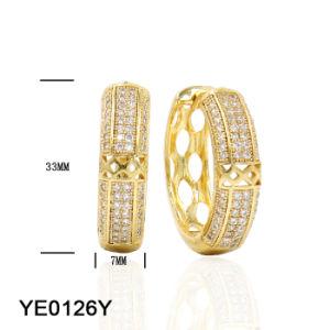 Neue Großhandelsmessingzirconia-Kupfer-Schmucksache-Ohrringe für Frauen