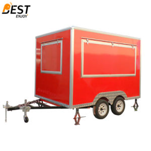 ヨーロッパ規格3mの長い軽食のカートの通りの食糧販売のカートの可動装置の台所