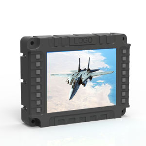 사각에 의하여 끼워넣어지는 LCD 모니터, 붙박이 VGA/HDMI/BNC 입력, 어려운 금속 주거