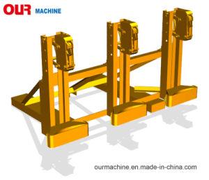 フォークリフトによってDumの取付けられる発動機1500のKg容量の倍のドラムグラブDg1500A