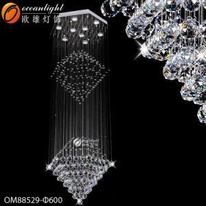 LED moderno lustre de cristal cabeça pendente de luz com Hotel, Restaurante ou escritórios