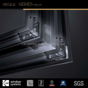Personalizado de gama alta de vidrio de ventana de aluminio con pantalla de insectos incorporada