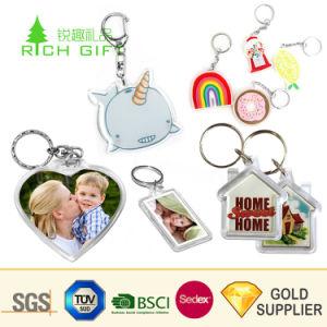 도매 승진은 명확한 공백 아크릴 열쇠 고리 형식 Anime 수정같은 사진 기념품 선물을%s 프레임에 의하여 인쇄된 주문 로고 플라스틱 아크릴 열쇠 고리를 개인화했다