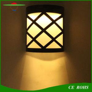 6LED decorativa al aire libre el paisaje del sensor de luz de pared de luz solar
