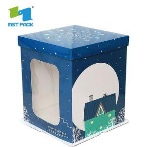 La piegatura libera dell'animale domestico del PVC progetta il bambino per il cliente del contenitore di regalo di timbratura di oro