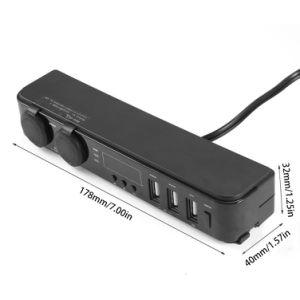 Adattatore di visualizzazione Port di tempo di temperatura di tensione dell'accenditore del caricatore + della sigaretta del USB del supporto 3 automatici universali 5V 3A del poggiacapo della sede di automobili