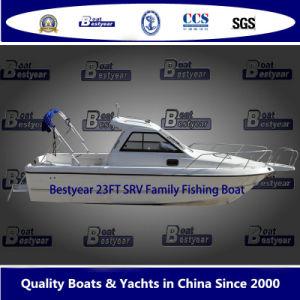 Bestyear 23ft Srv de fibra de vidrio para la pesca en barco, la familia y polivalente