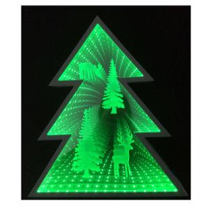 가정 장식적인 크리스마스 나무 미러 마스크 갱도 LED 주제 빛