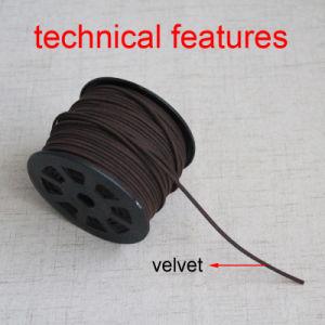 Mestiere molle della stringa del filetto della corda piana del merletto della pelle scamosciata del cavo di cuoio variopinto