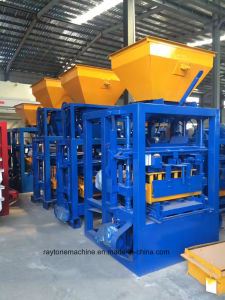 4-26 Qt Semiautomáticos Brick porosa do bloco de máquina para fabricação de tijolos de barro