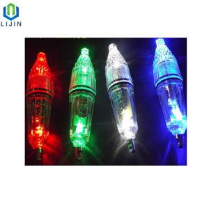 Bateria de botão luz de LED da lâmpada de Pesca Submarina 12cm de comprimento
