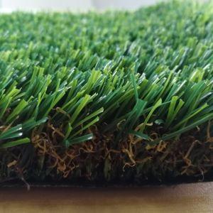 Erba sintetica artificiale sempreverde del prato inglese per il giardino