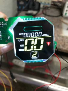 LCD van het karakter Module met Groene leiden