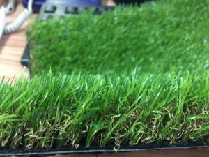 Erba artificiale sintetica del tappeto erboso del venditore U di Quattro-Colore caldo di figura
