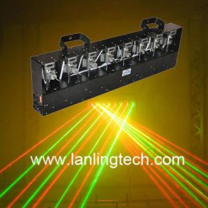 移動ヘッドレーザープロジェクターレーザーのカーテンの赤い緑Ln5280