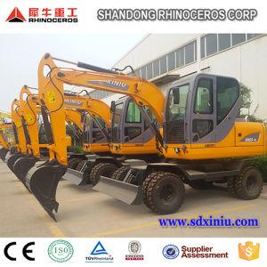 China 8 tonelada 0.3cbm Excavadora de ruedas de la cuchara Xn80-9 para la venta