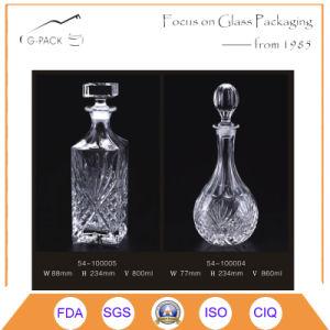 Bottiglia di vetro eccellente della vodka del silice 860ml con sughero