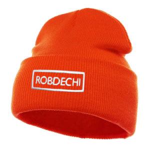 Étoffes de bonneterie d'hiver brodé personnalisé Beanie Hat