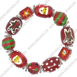 Lampwork Bracelet With Metal Alloy Findings