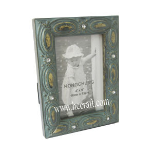 Jewels /Gesso / Compo Wooden Photo Frame