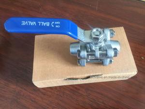 estremità rapidamente installata dell'acciaio inossidabile 3PC/valvola a sfera saldatura dello zoccolo (BW)