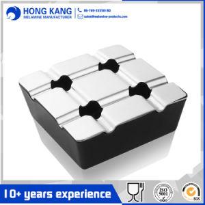 Haltbare Gebrauch-bewegliche quadratische windundurchlässige Zigarre-Plastikmelamin-Aschenbecher