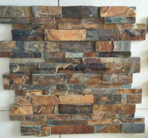 Rusty Pizarra Piedra Natural De La Cultura Para El Revestimiento De - Piedra-pared-exterior