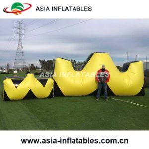 Portable W Shape Bunker de Paintball infláveis tiro com arco Target