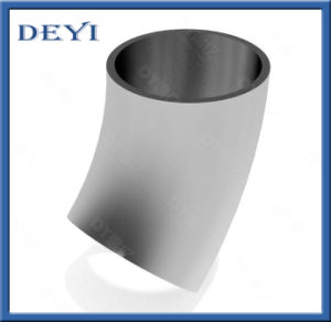 Sanitario colocación del tubo de acero inoxidable de 45 grados de doblar el codo corto